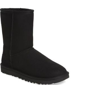 Ugg black shearling lined boot